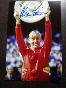 MARTINA NAVRATILOVA Authentic Hand Signed Autograph 4X6 PHOTO - TENNIS LEGEND