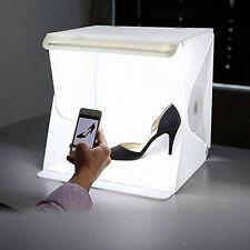 Mini Photo Studio Photography Tent Kit 9 Inch Backdrop Cube Box Built Light Room