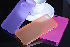 COVER PER APPLE IPHONE 5S 5 ULTRA SLIM 0.3MM CUSTODIA BUMPER THIN VARI COLORI