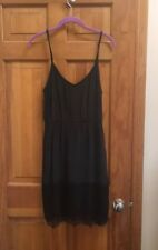 Twelfth Street by Cynthia Vincent black silk & Lace Slip dress Size 8