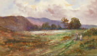 Mary M. Paine - Early 20th Century Watercolour, Two Figures in Spring Landscape