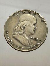 America - États Uni Moitié Dollar Franklin 1951