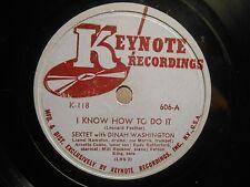 1944 Blues/Jazz 78 DINAH WASHINGTON I Know How To Do It / Salty Papa Blues *HEAR