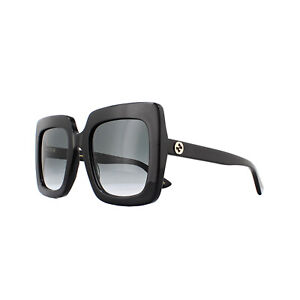 Gucci Sunglasses GG0328S 001 Black Grey Gradient