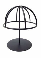 Small Tabletop Black Metal Wire Hat/Wig Stand Hats/Wigs Display Ball 7333D
