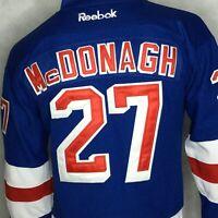 New York Rangers Jersey Reebok Home #27 Ryan McDonagh Blue Sz XL Sewn Center Ice