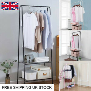 Large Clothes Rail Rack Garment Dress Hanging Display Stand Shoe Storage Shelf