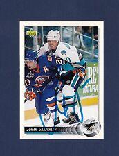 Johan Garpenlov signed San Jose Sharks 1992-93 Upper Deck hockey card