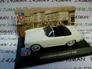 SIM7 altaya IXO 1/43 SIMCA : Océane Cabriolet 1958