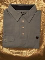 NEW--Southern Proper Men's Polo Golf Tourney Shirt Blue Pocket Size Small