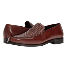 $160 Kenneth Cole New York Men's Brown Leather Loafers Slip On Shoes Size 11.5 M
