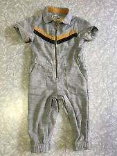"""Oshkosh """"I'm With The Band"""" Chambray Jumpsuit Coverall One Piece Size 18 Months"""