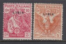 ITALY LIBIA Red Cross Sassone n.13+16 cv 50$ MNH**