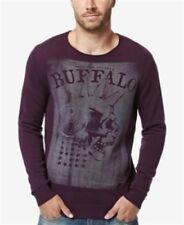 Buffalo David Bitton Mens Wicrane Print Pullover Sweater (XL) Purples Blackberry