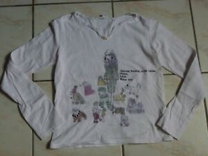 T-SHIRT BLANC CASSE OOXOO / MARESE, 14 ANS / 160