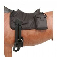 Tough-1 Brown Polypropylene Bareback Pad w/Accessory Bags Horse Tack