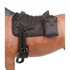 Tough-1 Brown Polypropylene Bareback Pad w/Accessory Bags Horse Tack
