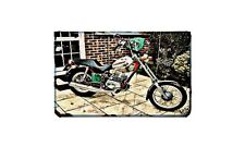 Fantic Chopper Motorbike Sign Metal Retro Aged Aluminium Bike