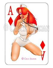 Jessica Rabbit Naughty Nurse 2019 playing card decal sexy pin-up sticker