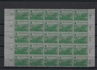 germany 1945 saxony land reform mint never hinged stamps block r13303