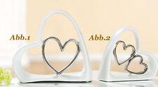 GILDE Escultura Corazón en corazón( Abb. 1 ) 28 cm boda Figura - 20070d