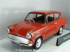 FORD ANGLIA MODEL CAR 1:43 SIZE RED CR040 251XND 1960'S CARARAMA SALOON T34Z