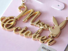 """Miss October"" Genuine Playboy Gold & Gem Stone Necklace"