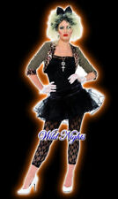 Womens 1980s Wild Child Pop Star Ladies Fancy Dress Party Costume Size 20-22