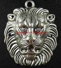 4pcs Tibetan Silver Lion's Head Charms 55x45.5mm 5383