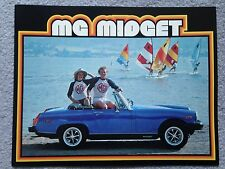 MG Midget 1979 Dealer Sales Brochure - Original - Mint Condition