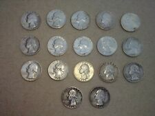New Listing17 Coin Lot - 1960 to 1964 Washington Silver Quarters - Circulated