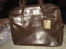 Buxton Computer Organizer caramel brown leather large carry case great bag