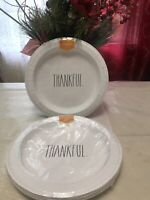 """New And Sealed Rae Dunn """"Thankful"""" luncheon plates, 16 Plates, Set Of 2"""