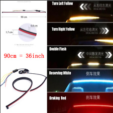Car Flowing Turn Signal Rear Dynamic Colorful High Position Brake Light LED Lamp
