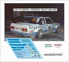 DECALS FIAT 131 ABARTH GEGGERO RALLY LANA 1982