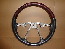 02-04 Jeep Grand Cherokee Overland WJ Factory Leather Woodgrain Steering Wheel