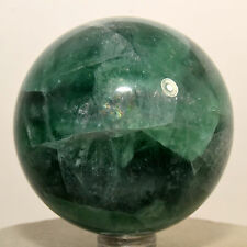 """2.3"""" Rainbow Green Fluorite Sphere Natural Sparkling Crystal Stone Ball - China"""
