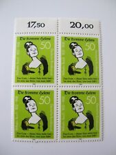 bundespost 1982 Michel n° 1129 die fromme selene bloc 4 timbres bord de feuille