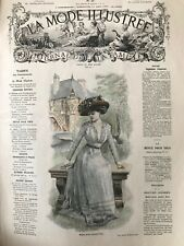 MODE ILLUSTREE SEWING PATTERN June 13,1909  Matinee, dresses, blouses...
