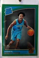 2018 18 Panini Donruss Green Flood Rated Rookie Devonte Graham RC #189