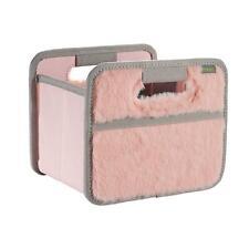 Faltbox Mini, Rosa -Plüsch- Aufbewahrung Box für Auto Schrankwand Regal