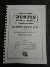 SERVICE PARTS LIST for Austin Healey Bugeye Frogeye Sprite