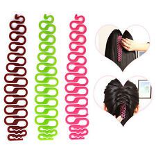 2pcs Women Fishbone Hair Styling Salon Clip Stick Bun Maker Braid Tool Hair Accs