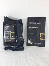 Every Man Jack Facial Wipes - Volcanic Clay 30 Count ORGANIC, VEGAN, NATRUAL