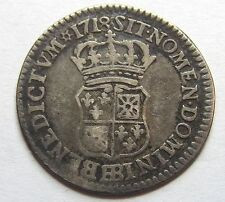 - Louis XV - 1/10 d'écu de France Navarre - 1718 BB -