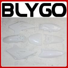 WHITE Plastics Guard Fairing Fender Kit TTR50 STYLE 50cc 70cc PIT PRO Dirt Bike