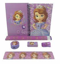 (8ct) Sofia the First Pencils, Ruler, Eraser, Notebook Teen Girls Stationary Set