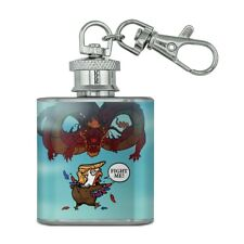 Trump Trade War with China Red Dragon Stainless Steel Flask Key Chain