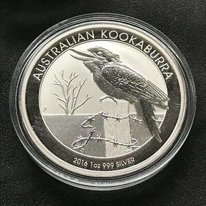 2016 Australian Kookaburra 1 Ounce .999 Silver Coin Original Perth Mint Capsule