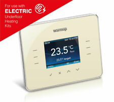 Warmup 3ie TouchScreen Digital Thermostat with Energy Management - Classic Cream